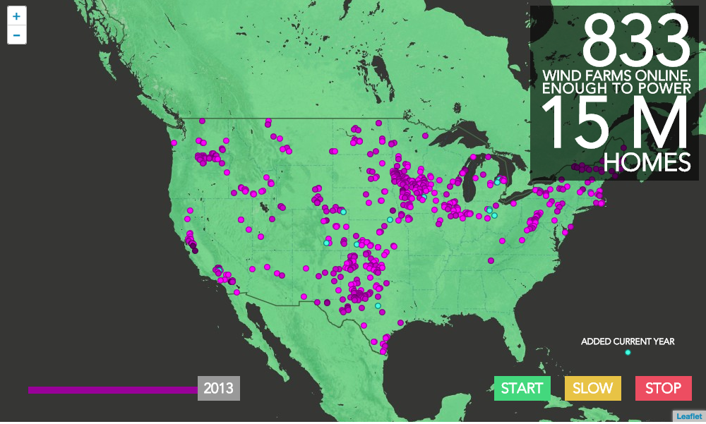 Wind Farm Growth Through The Years Department Of Energy - Us wind energy map